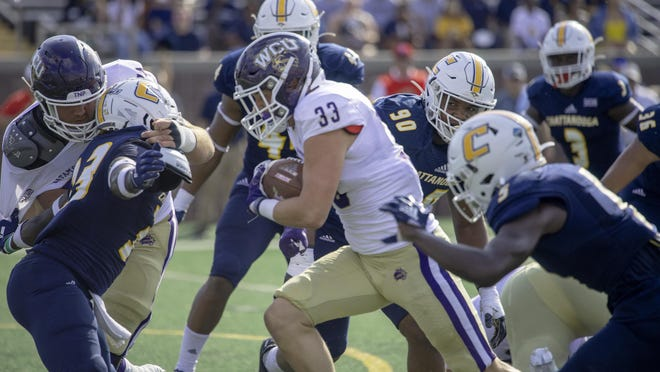 Western Carolina's Curtis Roach carries the ball during a game last season.