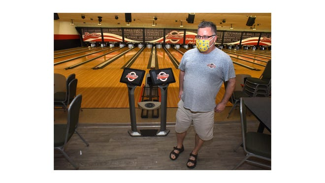 In May, Rich Kenny, owner of Forest View Lanes, explains the measures he's taking to prepare to safely reopen the bowling alley.
