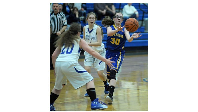 Jefferson's Sarah Vanisacker (30) will play college basketball at Alma College.