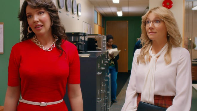 "Katherine Heigl and Sarah Chalke in ""Firefly Lane,"" which arrives Wednesday on Netflix."