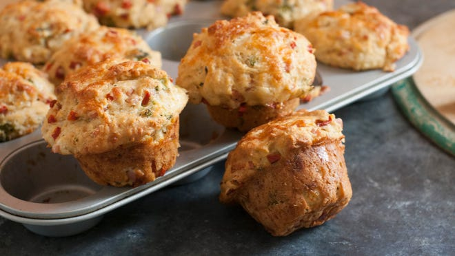 Broccoli Cheddar Breakfast Muffins are healthy and offer a substantial meal.