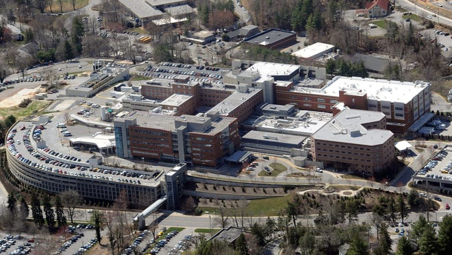 The main Memorial Campus of Mission Health on March 19.