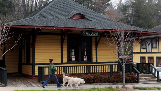 The Saluda Train Station is the town's oldest building and has gone through renovations with fresh paint and modern fixtures. Residents say the space could serve as a town museum.