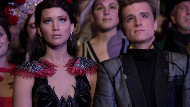 """Josh Hutcherson and Jennifer Lawrence resume the adventures of Peeta Mellark and Katniss Everdeen in """"The Hunger Games: Mockingjay – Part 1,"""" the third film in the blockbuster """"Hunger Games"""" franchise."""