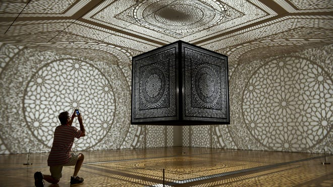 """Anila Quayyum Agha's """"Intersections"""" installation was the big winner in the ArtPrize competition, fetching $300,000 in prize money for Agha."""