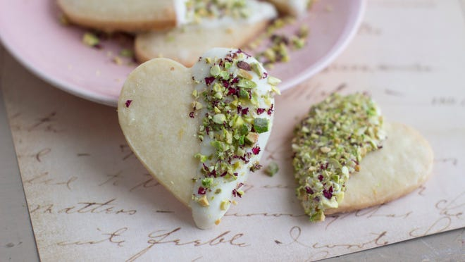 Aarti Sequeira came up with this recipe for rosewater shortbread cookies.