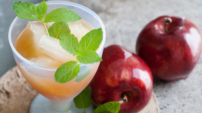This June 30, 2014 photo shows a Calvados cider sidecar cocktail in Concord, N.H.