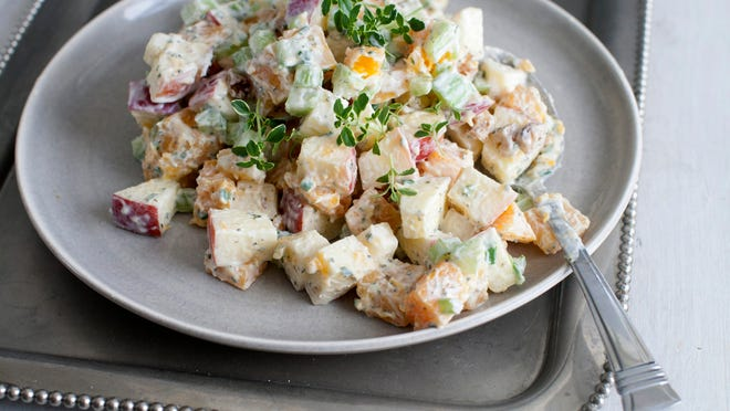 Butternut squash and apple Waldorf salad in Concord, N.H. The side dish can act as a compliment to a grilled main course for Labor Day.