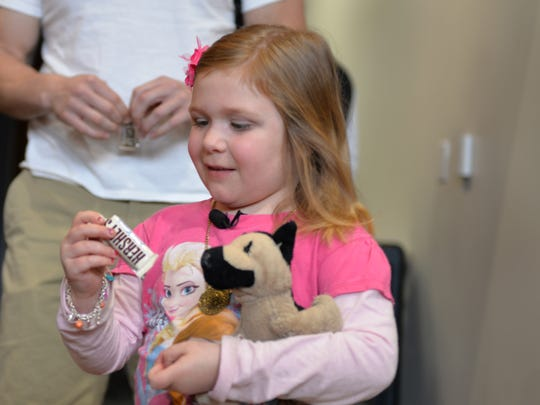 Six-year old Maya Richardson, a Make-A-Wish child from