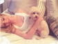 Bella Thorne and pooch Kingston relaxed together in this cozy shot.