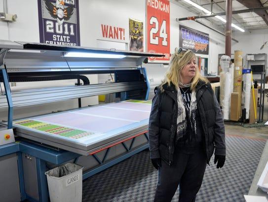 RHL Inc. co-owner Wendy Rheaume talks Jan. 30 about