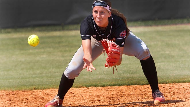 Austin Peay shortstop Morgan Hoeg prepares to make a play on a Southeast Missouri ground ball during OVC action at Cheryl Holt Field on Saturday.