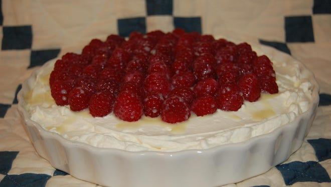 Raspberry White Chocolate Tart