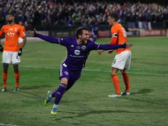 Forward Cameron Lancaster played four seasons with Louisville City FC (2015-18) and won two USL Cups.