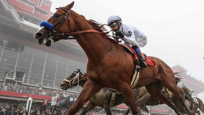 Kentucky Derby winner Justify won the 143rd running of the Preakness Stakes on Saturday, putting him in position to be the second horse since 1978 to win the coveted Triple Crown of horse racing (Kentucky Derby, Preakness Stakes, Belmont Stakes).