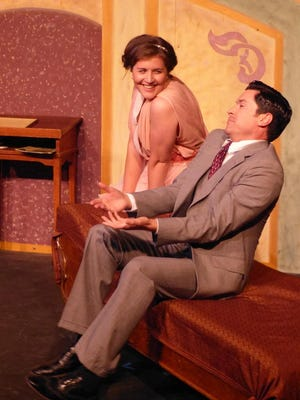 "Anna Cline plays Lulu and Adam Estes is Edward Sherry in the Third Avenue Playhouse production of ""Madame Sherry."""