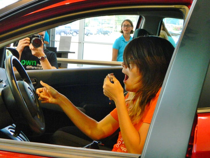 The 2014 Pass and Go event at Wyatt-Johnson Mazda featured  a record 458 high school students who passed advanced placement tests and earned a chance to win a car.