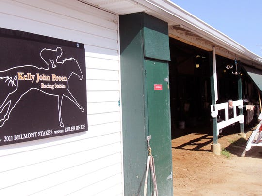 A look inside American Pharoah's short-term home at Monmouth Park.