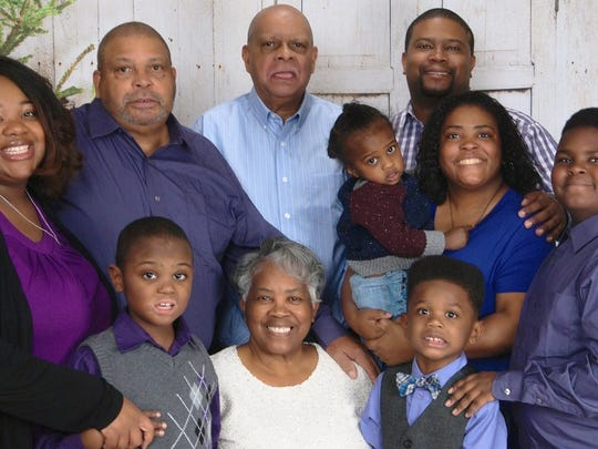 Nine members of the Coleman family from Indianapolis,