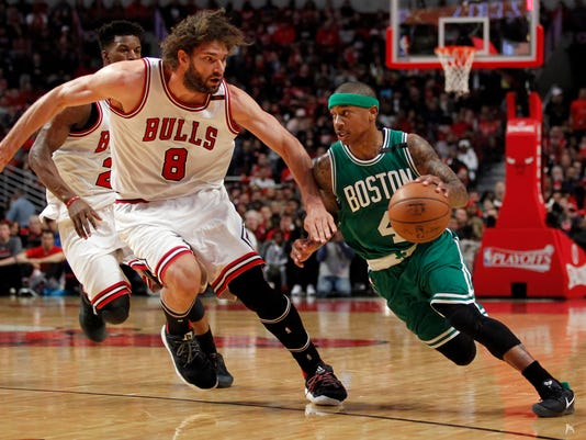 USP NBA: PLAYOFFS-BOSTON CELTICS AT CHICAGO BULLS S BKN CHI BOS USA IL