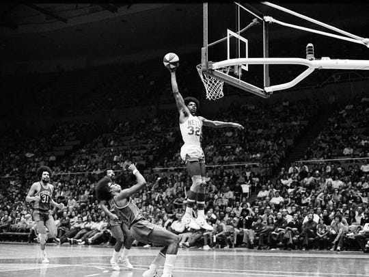 "Julius Erving of the New York Nets, known as ""Doctor"