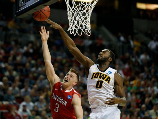 NCAA Basketball: NCAA Tournament-2nd Round-Iowa vs Davidson