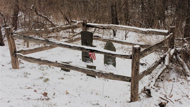 The Rouse Family Cemetery on Salmon Creek Road, about 50 yards north of the west end of Brooks Hill Road.