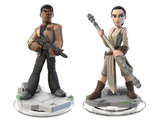 """Finn and Rey are figures that come in the """"Force Awakens"""""""