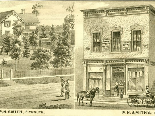 P.H. Smith, home and business in early Plymouth.
