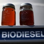 Biodiesel is made from recycled cooking oil, animal fats and agricultural oils.