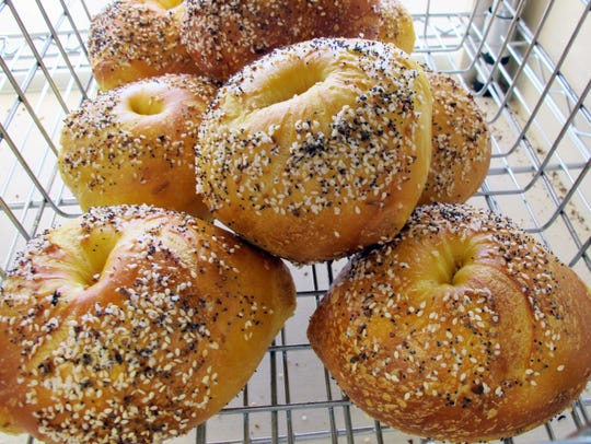 Egg everything bagels are among the nearly 25 varieties