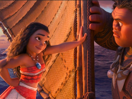 "Tenacious teenager Moana (voice of Auli?i Cravalho) recruits a demigod named Maui (voice of Dwayne Johnson) to help her become a master wayfinder and sail out on a daring mission to save her people. Directed by the renowned filmmaking team of Ron Clements and John Musker, produced by Osnat Shurer, and featuring music by Lin-Manuel Miranda, Mark Mancina and Opetaia Foa'i, ""Moana"" sails into U.S. theaters on Nov. 23, 2016. C2016 Disney. All Rights Reserved."