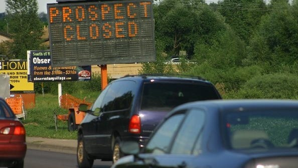 Prospect Road is facing closures starting Monday so crews can finish paving a section of the road.