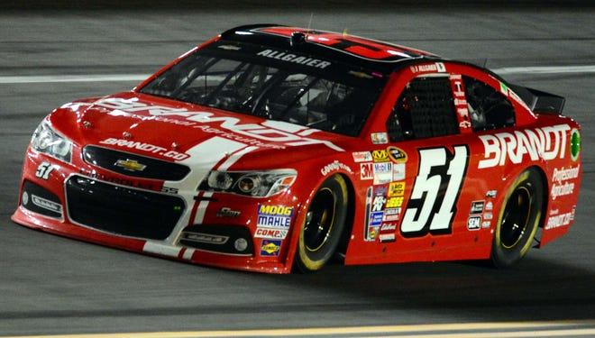NASCAR Sprint Cup driver Justin Allgaier during practice for the Daytona 500 at Daytona International Speedway.