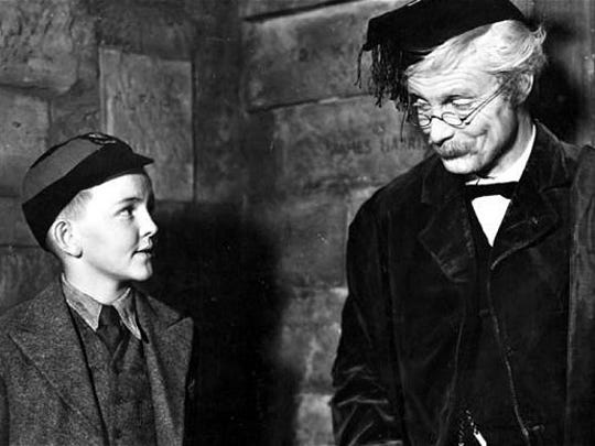 """Robert Donat in """"Goodbye Mr. Chips,"""" the touching story of a gentle schoolmaster"""
