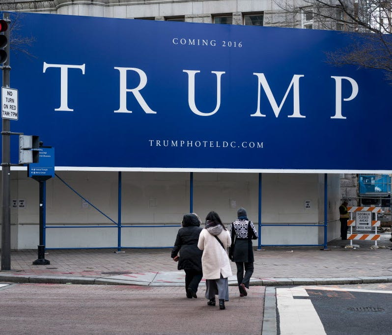 Site of the Trump International Hotel in Washington, D.C.