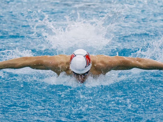 Muskego swimmer Jack Rohlinger competes in the 100