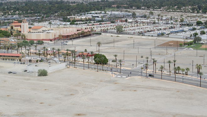 A large parcel of land at the southwest intersection of Date Palm Dr. and Hwy 111 in Cathedral City may be developed into a hotel by the Saxony Group.