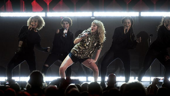 Taylor Swift performs onstage during 102.7 KIIS FM's