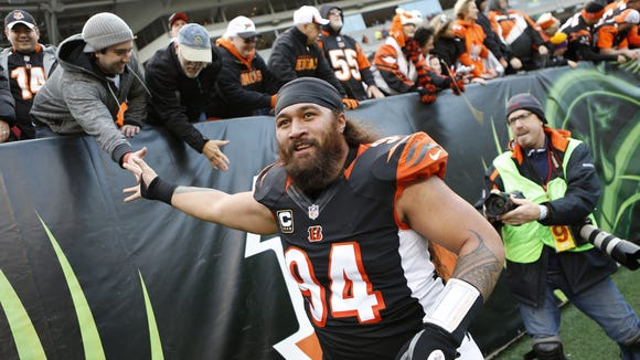 Domata Peko led the defensive line in tackles four of the last six seasons.