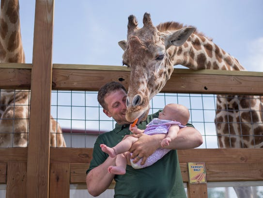 Animal Adventure park owner Jordan Patch and his 4-month-old