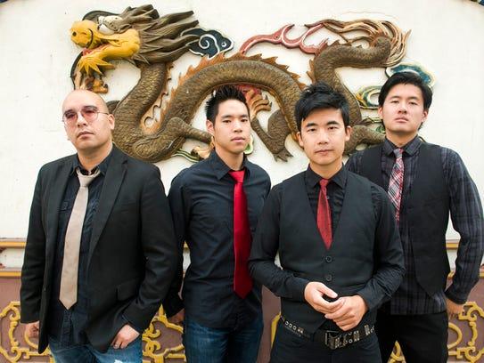 The Asian-American band The Slants, from left, Joe
