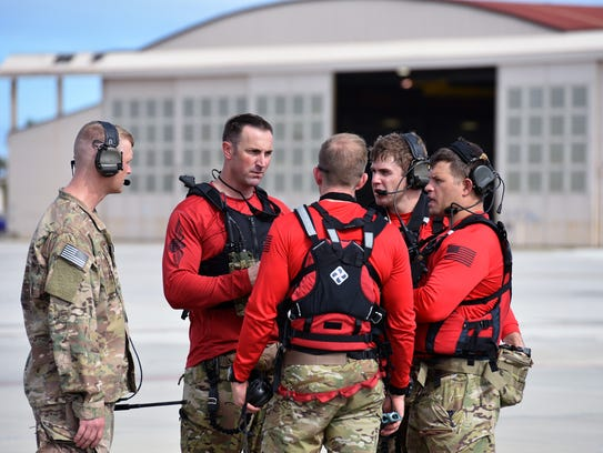 Air Force Reserve pararescuemen with the 920th Rescue