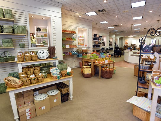 An interior view of Longaberger's Patio Shops in Dresden.