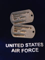 Air Force Col. Richard Kibbey's dog tags were handed to U.S. authorities by a Vietnamese farmer in September 2015.