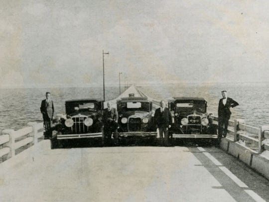 The first official automobile trip was made across