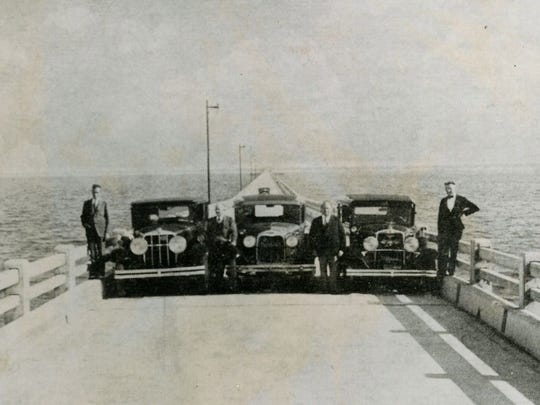 The first official automobile trip was made across the original Pensacola Bay Bridge in 1931.