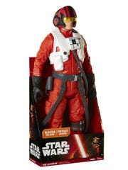An 18-inch Poe Dameron is ready for battle when the