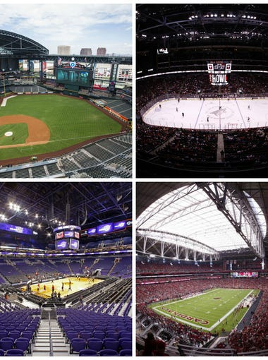 Three Phoenix-area professional sports teams — the Arizona Diamondbacks, Arizona Coyotes and Phoenix Suns — have made noise recently about getting new homes for a variety of reasons. Here's a look at their current stadium/arena deals, along with that of the Arizona Cardinals, the only happy team in town.
