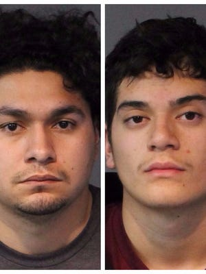 Richard Silva, also known as Richard Silva-Guzman, 26, (left) and his 18-year-old cousin Yiovannie Guzman were both booked Friday into the Washoe County jail on individual murder charges. They were accused of shooting a 26-year-old woman in her car at an apartment parking lot in south Reno on Nov. 2, 2017. Both were being held without bail.
